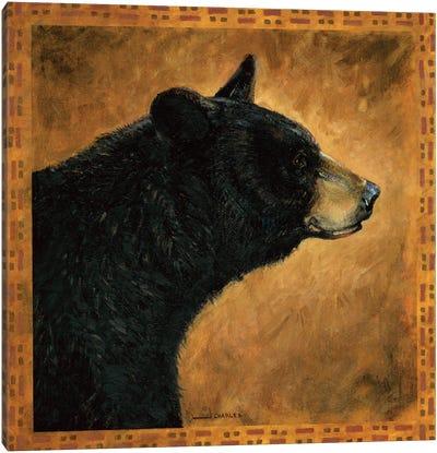 Shadow Beasts Black Bear Profile Canvas Art Print