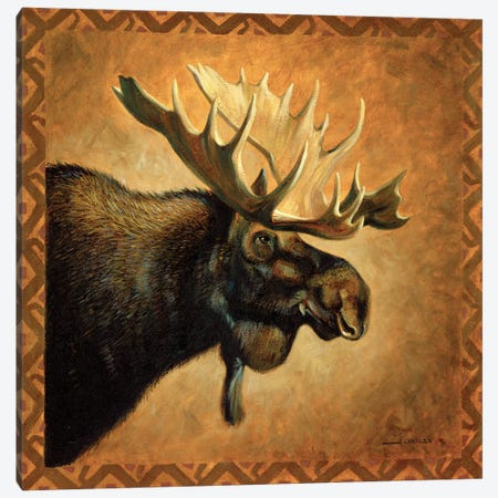 Shadow Beasts Moose Profile Canvas Print #GRC106} by J. Charles Art Print