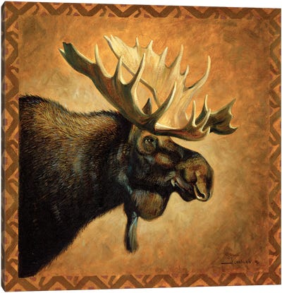 Shadow Beasts Moose Profile Canvas Art Print
