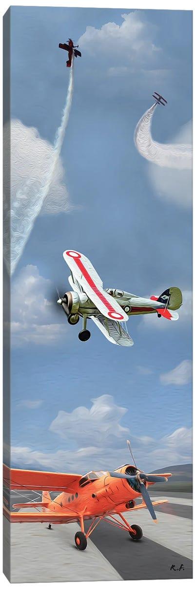 Aviation Book I Canvas Art Print