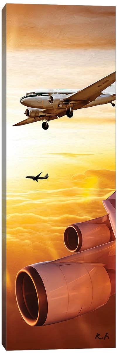 Aviation Book VI Canvas Art Print