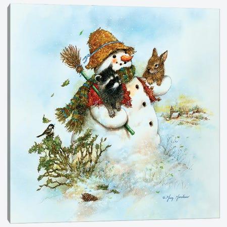 GREGCO Greg Giordano 166 Snowman Canvas Print #GRC137} by Greg & Company Canvas Wall Art