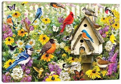 Chapel Birds Canvas Art Print