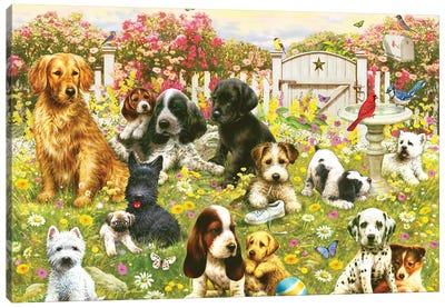 Dogie Daycare Canvas Art Print