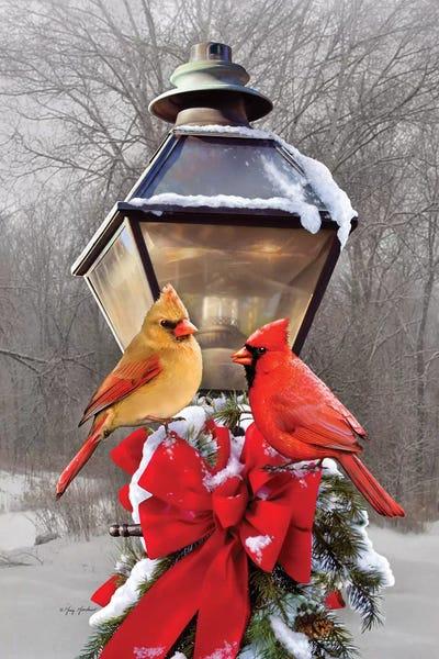 Christmas Cardinals Images.Christmas Cardinals Canvas Artwork By Greg Company Icanvas