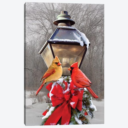 Christmas Cardinals Canvas Print #GRC17} by Greg & Company Canvas Artwork