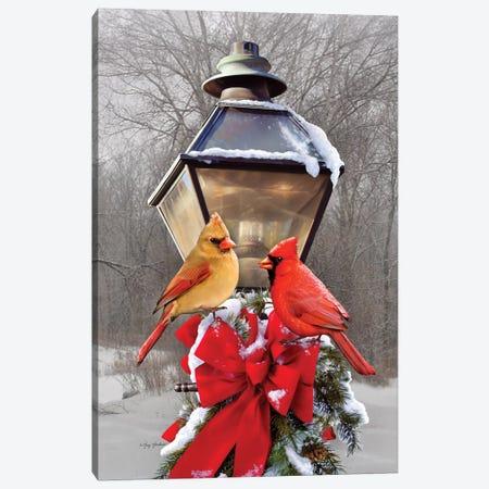 Christmas Cardinals Canvas Print #GRC17} by Greg & Company Canvas Artwork