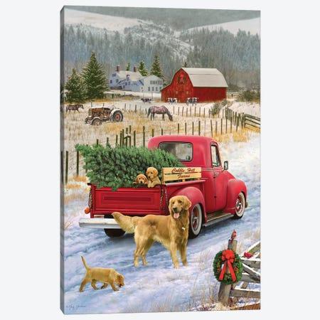 Christmas On The Farm} by Greg & Company Canvas Art Print