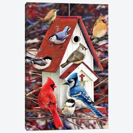 Church Birdhouse Canvas Print #GRC19} by Greg & Company Canvas Art Print