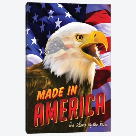 Eagle & Flag Canvas Print #GRC21} by Greg & Company Canvas Art