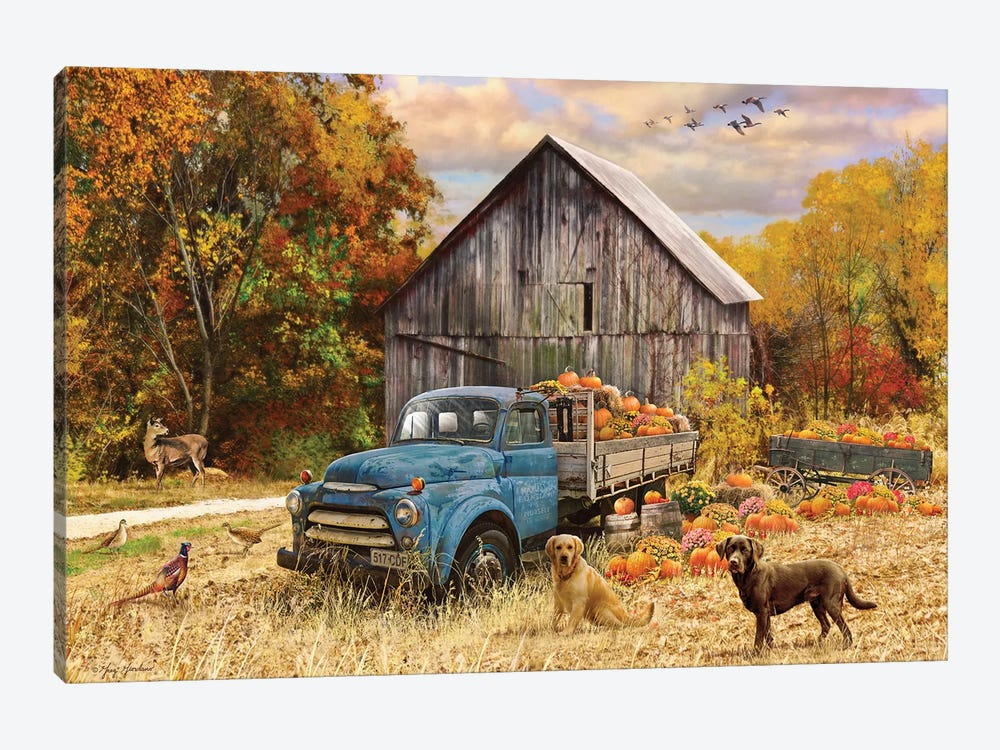 Fall Truck And Barn by Greg & Company 1-piece Canvas Print