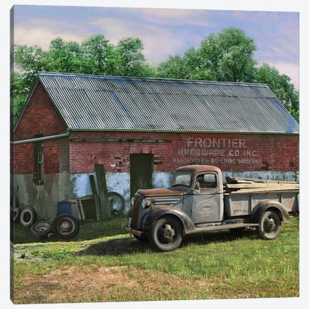 Frontier Truck Canvas Print #GRC23} by Greg & Company Canvas Artwork