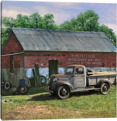 Frontier Truck Canvas Art Print