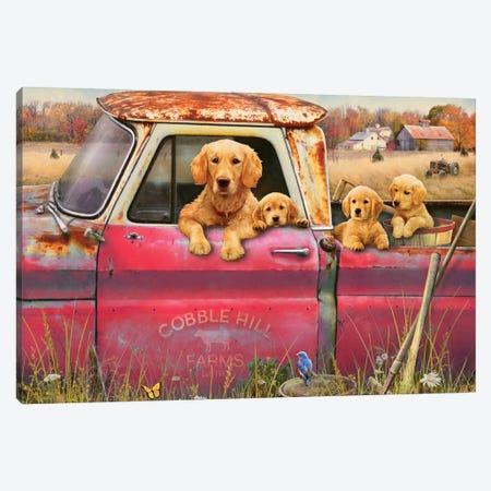 Goldens And Truck Canvas Print #GRC24} by Greg & Company Canvas Print