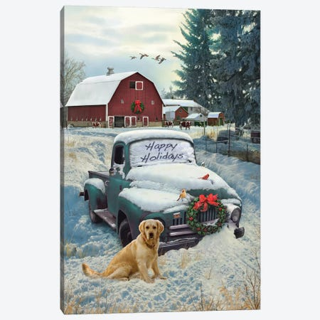 Holiday Truck Canvas Print #GRC25} by Greg & Company Canvas Print