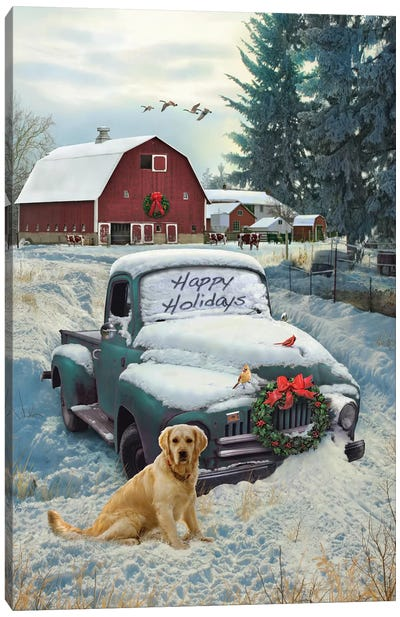 Holiday Truck Canvas Art Print