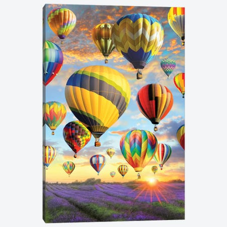 Hot Air Baloons Canvas Print #GRC26} by Greg & Company Canvas Print