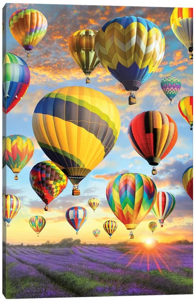 Hot Air Baloons Canvas Art Print