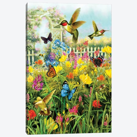 Hummingbirds & Arbor Canvas Print #GRC29} by Greg & Company Canvas Wall Art