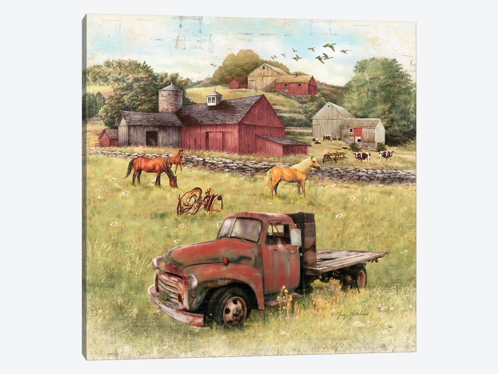 Barns And Old Truck by Greg & Company 1-piece Canvas Art