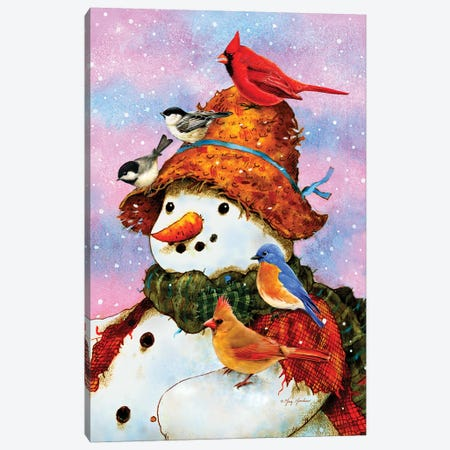Northwoods Snowman Canvas Print #GRC32} by Greg & Company Canvas Print
