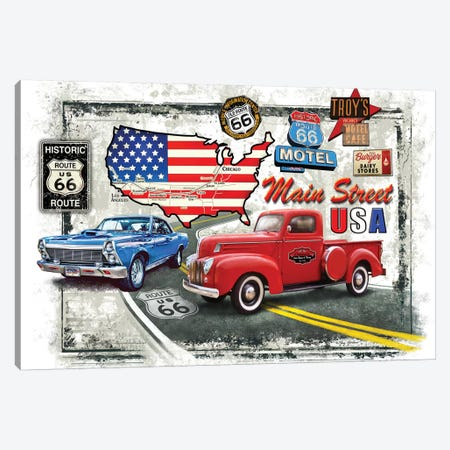 Nostalgic America Cars Canvas Print #GRC34} by Greg & Company Canvas Wall Art