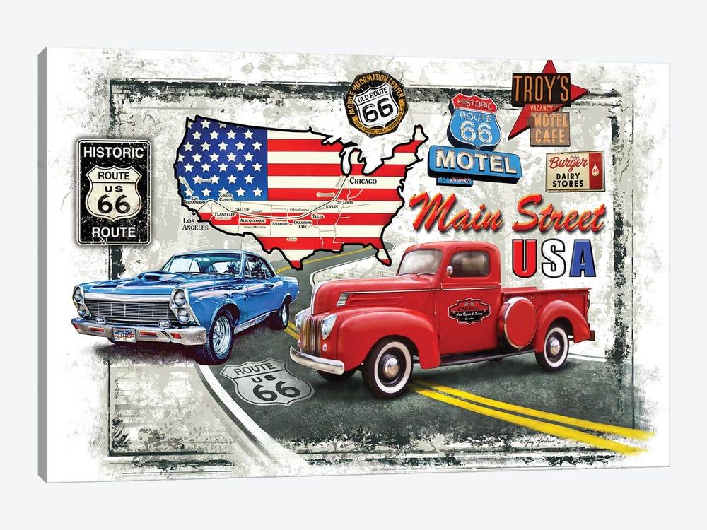 Nostalgic America Cars by Greg & Company 1-piece Canvas Wall Art