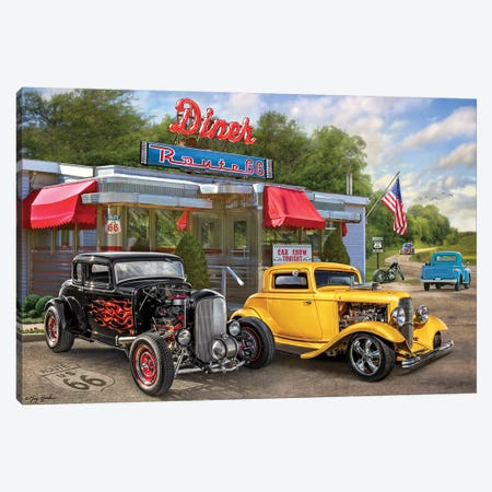 Nostalgic America Diner Canvas Print #GRC35} by Greg & Company Canvas Artwork