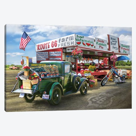 Nostalgic America Farmstand Canvas Print #GRC37} by Greg & Company Canvas Art