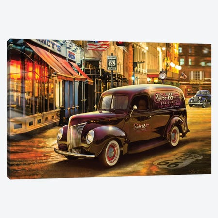 Nostalgic America Panel Truck Canvas Print #GRC39} by Greg & Company Art Print