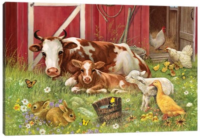 Barnyard Babies Canvas Art Print