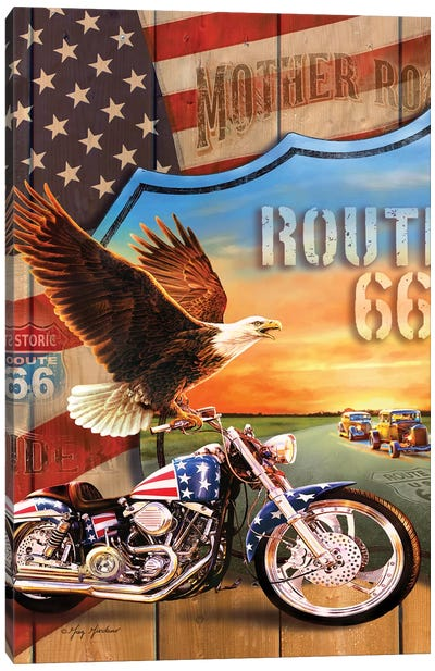 Patriotic Eagle Canvas Art Print