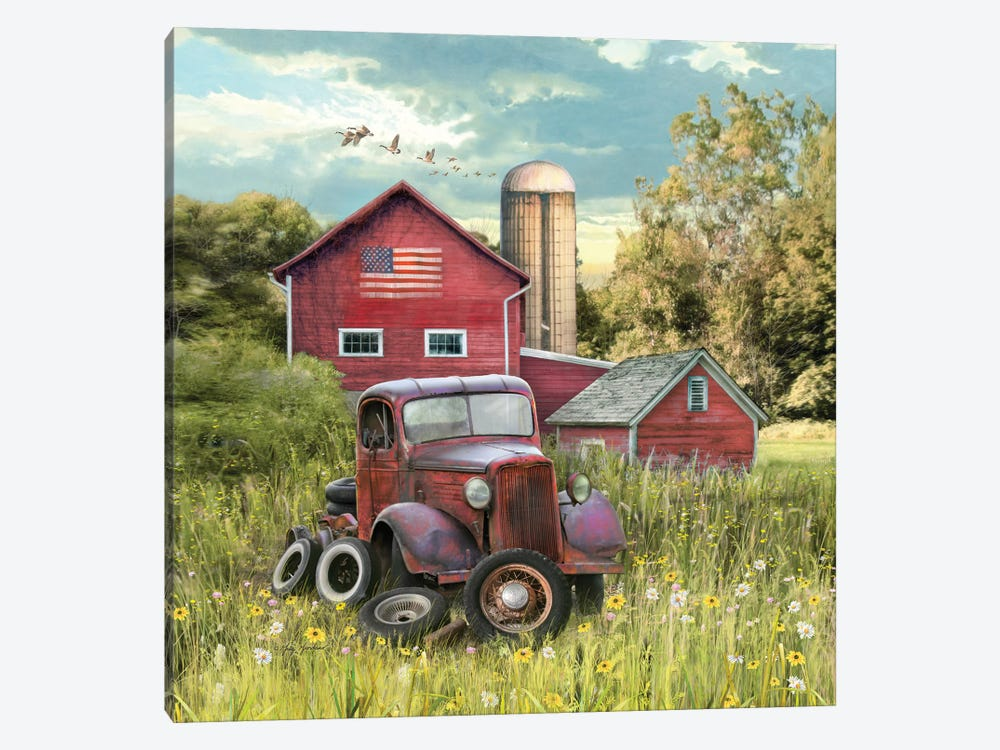 Patriotic Farm by Greg & Company 1-piece Canvas Wall Art
