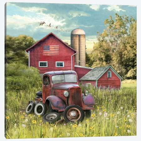Patriotic Farm Canvas Print #GRC43} by Greg & Company Canvas Wall Art