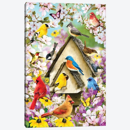 Spring Birds And Dogwood Canvas Print #GRC45} by Greg & Company Canvas Print