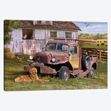 Stuart's Vintage Truck Canvas Print #GRC46} by Greg & Company Canvas Print