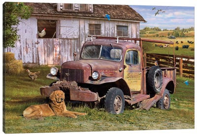 Stuart's Vintage Truck Canvas Art Print