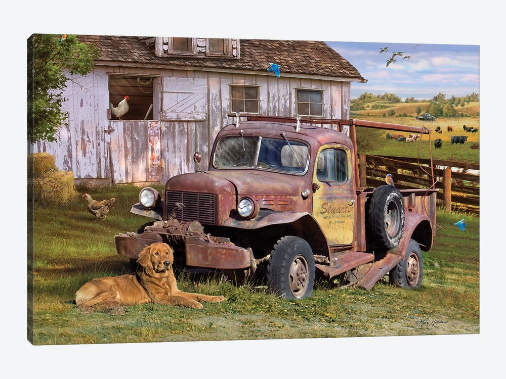 Stuart's Vintage Truck by Greg & Company 1-piece Art Print
