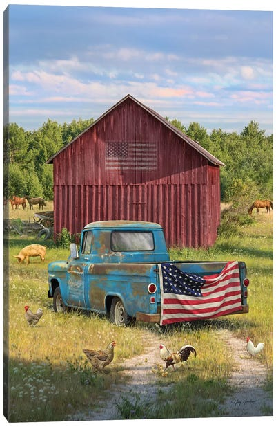 Summer Farm Canvas Art Print