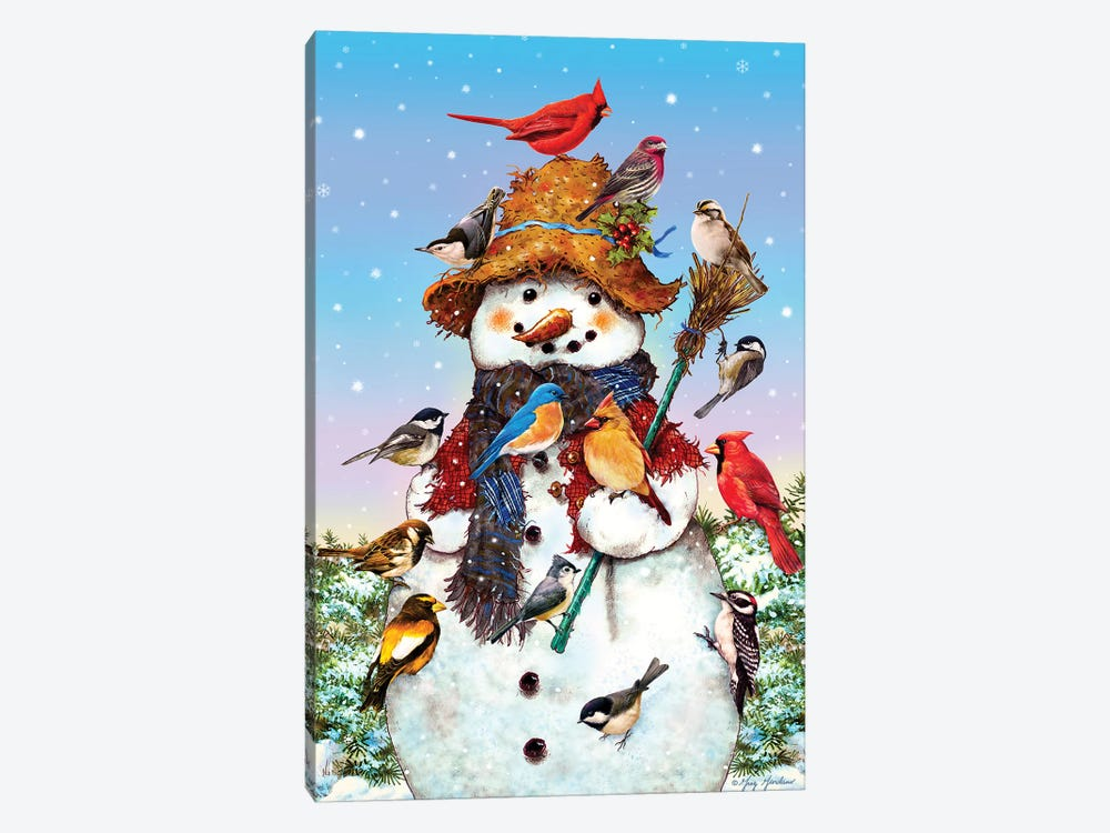 Birds And Snowman by Greg & Company 1-piece Canvas Artwork