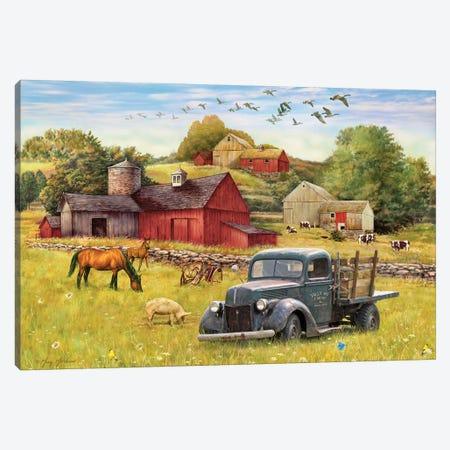 Tally Ho Farms And Truck Canvas Print #GRC50} by Greg & Company Canvas Print
