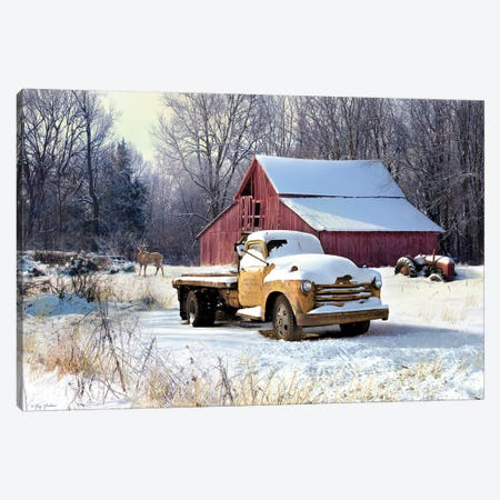 Winter Truck Canvas Print #GRC54} by Greg & Company Canvas Artwork