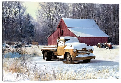Winter Truck Canvas Art Print