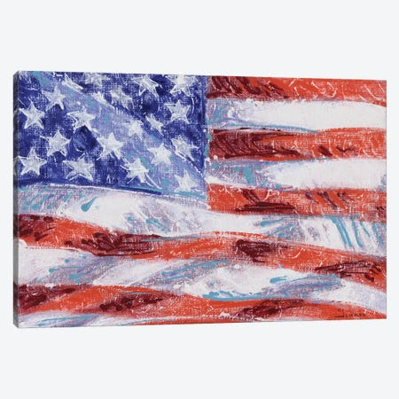 Freedom Flag Canvas Print #GRC57} by J. Charles Canvas Art