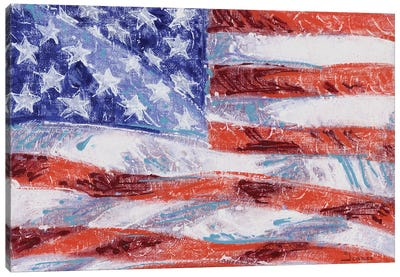 Freedom Flag Canvas Art Print