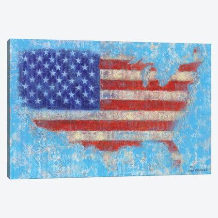 American Flag Canvas Print #GRC58} by J. Charles Canvas Art Print