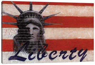 Miss Liberty Canvas Art Print