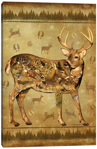 Deer Canvas Art Print