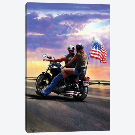 Sunset Chopper Canvas Print #GRC79} by Greg & Company Art Print
