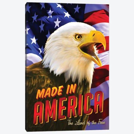 Eagle & Flag Canvas Print #GRC80} by Greg & Company Canvas Art